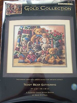 Dimensions Gold Teddy Bear Gathering Cross Stitch Kit