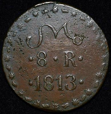 1813 Mexico 8 Reales, Tierra Caliente T.C. SUD - High Grade Coin