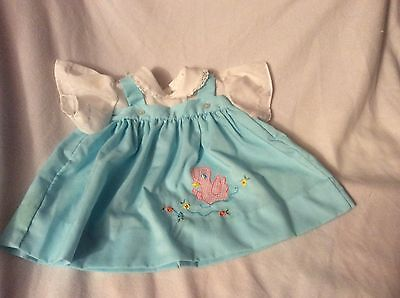 Vintage Baby Dress Doll Duck Lacy Size 0-3 Mos DARLING