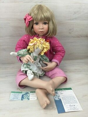 Master Piece Porcelain Girl Doll Limited Edition Finishing Touches COA w/ Plush