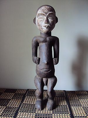 MAKE OFFER - VUVI MALE RELIQUARY RARE African Carving Statue!!