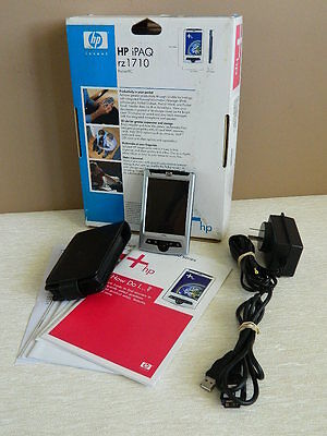 HP iPAQ rz 1710 Pocket PC in box with Charger & Manual