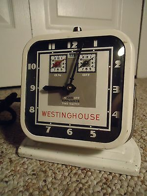 Vintage Westinghouse Electric Clock & Appliance Timer Mid Century