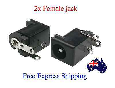 2PCS New DC Power Supply socket Jack Female Outlet Charger 5.5mm x 2.1mm DIY