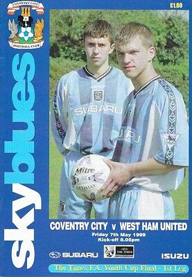 Coventry City V West Ham United 98/99  --  Fa Youth Cup Final