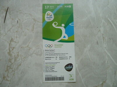 Used Ticket Olympic Games 2016 Olympia A38 Basketball Spain France Quarterfinal