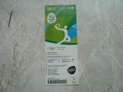 Used Ticket Olympic Games 2016 Olympia A43 Basketball Spain USA Semifinal