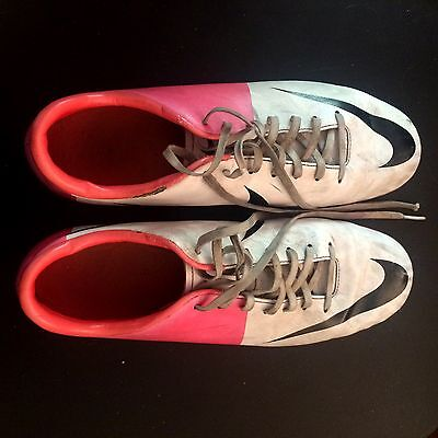 Nike Mercurial White Pink FG Soccer Boots size 8.5US