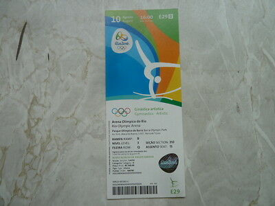 Used Ticket Olympic Games 2016 Olympia E29 Gymnastics Artistic Turnen Gold Japan
