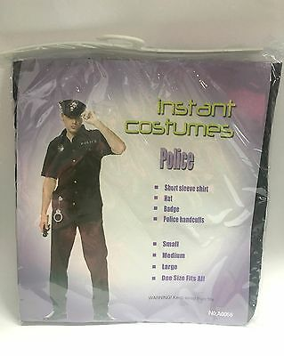 New Mens Police Officer Policeman Uniform  Costume Fancy Outfit Party Dress Up