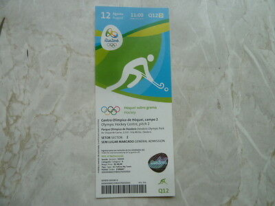 Used Ticket Olympic Games 2016 Olympia Q12 Hockey Germany Netherlands