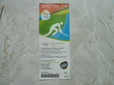 Used Ticket Olympic Games 2016 Olympia R15 Hockey Germany Netherlands Women