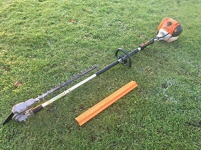 Stihl HL100 Petrol Long Reach Hedge Trimmer Cutter With 135 Adjustable Head HL95