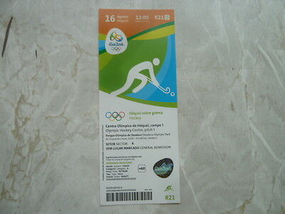 Used Ticket Olympic Games 2016 Olympia R21 Hockey Germany Argentina Semifinal M
