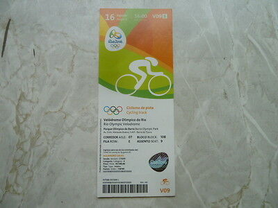 Used Ticket Olympic Games 2016 Olympia V09 Cycling Track Gold Germany Vogel