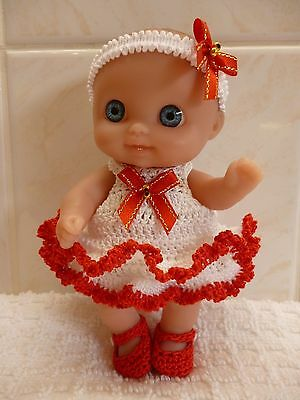 "Hand Crochet set for the new 5"" Berenguer Mini Lil Cutesie doll"