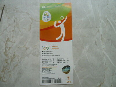 Used Ticket Olympic Games 2016 Olympia V50 Volleyball Japan Korea China NED