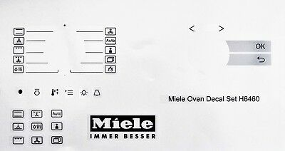 Miele oven facia. decal, stickers H6460, clear vinyl may suit others.