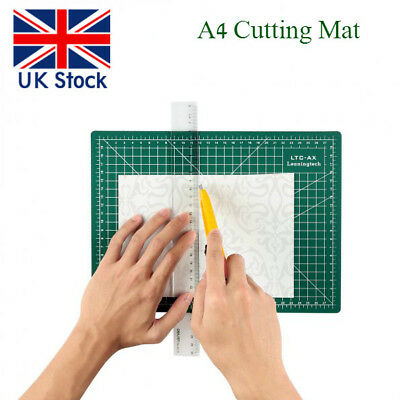 UK SHIP Self Healing A4 Cutting Mat 3-Ply Single Sided Non Slip Green Crafts