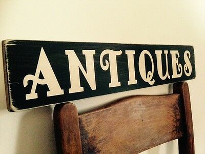 Antique Antiques Vintage Sign Old Look Shop Pub Home Kitchen Plaque Window
