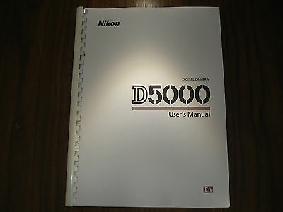~PRINTED~ Nikon D5000 User guide Instruction manual  A4 or handy A5