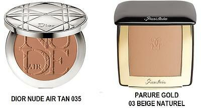 DIOR Nude Air Tan Powder 035 Polvo sol terracota / Guerlain Parure gold 03