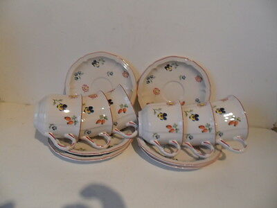 Villeroy & Boch 6 Coffee Cups And Saucers Petite Fleur