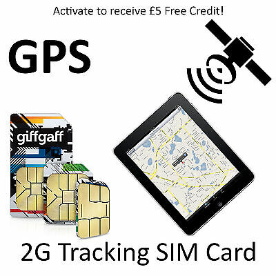 2G Sim Card for GPS Tracking Device Tracker GSM Car Pet Child Personal on PAYG