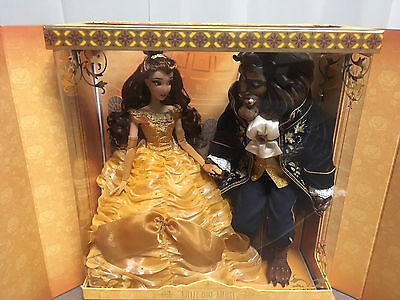 Disney Store Beauty And The Beast Platinum Doll Set LE