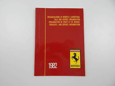 Original Ferrari 1982 Dealer Directory Manual Handbook 308 Mondial