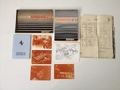 Original Ferrari 365 GT 2+2 Manual Set Warranty Card Handbook Pouch 250 275 330