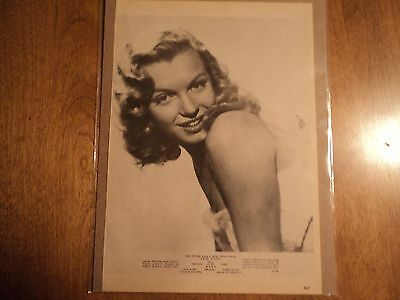 Vintage Marilyn Monroe B&W Magazine 1960s Pin Up poster