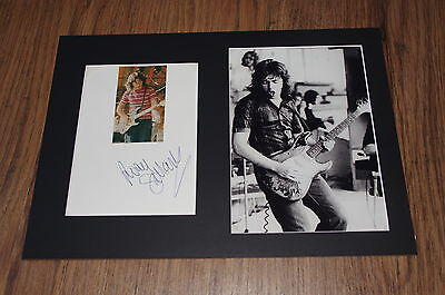 RORY GALLAGHER signed 8x12 inch autograph matted + framed InPerson RARE