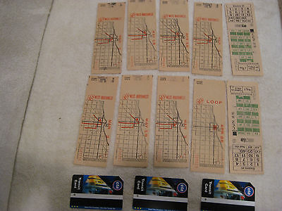 Lot of 13 Ticket Trolley Streetcar Ticket Transfers, Chicago Surface Lines