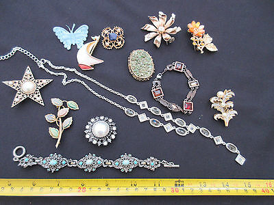 Vintage/old and new costume jewellry all VGC