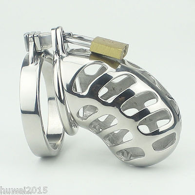 2016 NEW Stainless steel chastity belt Male Cock cage A949