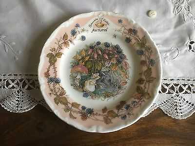 Royal Doulton tea plate autumn bramley hedge collection