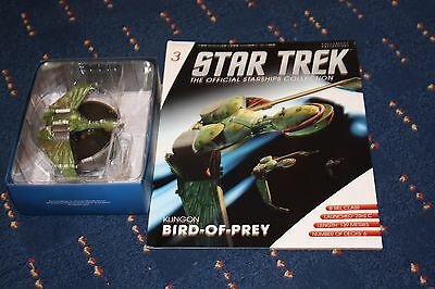 Star Trek Eaglemoss Issue 3 Klingon Bird of Prey