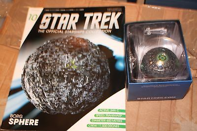 Star Trek Eaglemoss Issue 10 Borg Sphere With Magazine