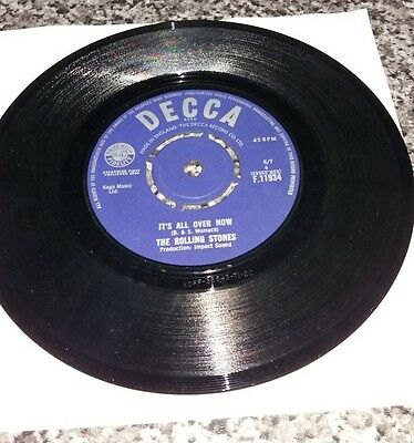 """It's All Over Now -The Rolling Stones  - 45rpm 7"""" Vinyl Record"""