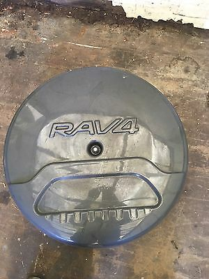 Genuine Toyota RAV4 Rear Spare Wheel Cover  Carrier And Holder GRAY Free Postage