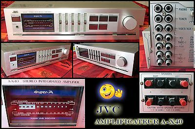 Stereo Integrated Amplifier JVC A-X40 -  Super-A.