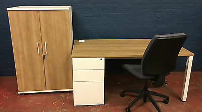 Complete office, office desk, office chair, storage cabinet, home office