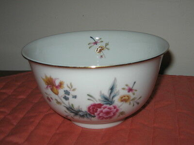 Avon American Heirloom Independence Day 1981 Occasional Bowl Flowers Dragonfly