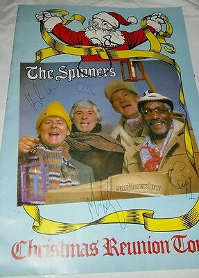 Signed The Spinners Christmas Reunion Tour Programme