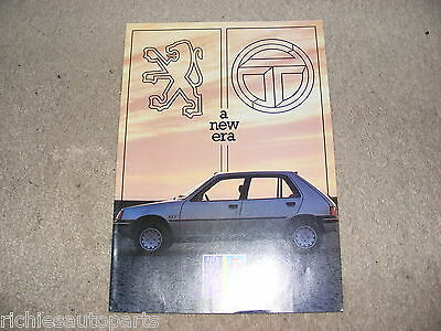 PEUGEOT TALBOT SALES BROCHURE (EARLY 1980's) GOOD USED CONDITION