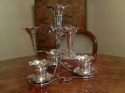 Seven-Arm Epergne Silver Plate