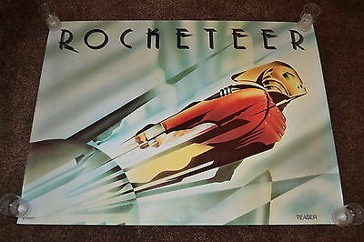 Rare ROCKETEER original teaser cinema Poster 1991 UK quad Disney sci-fi