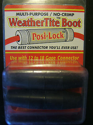 2 Packs of Posi-Lock® WeatherTite Boots for 12 to 18 gage wire; 2 each