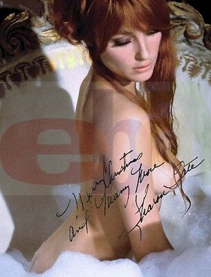 REPRINT RP 8x10 Signed Autographed Photo Picture: Playboy Sexy NUDE Sharon Tate